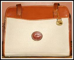 French Almond Biscotti Vintage Dooney Zip Top Satchel Shoulder Bag