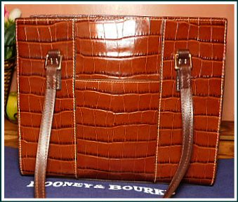 Sophisticated Cinnamon Chocolate Cappuccino Dooney Bayou Shoulder Bag
