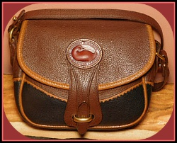 Demure Rosewood Spice Teton Vintage Dooney Shoulder Bag