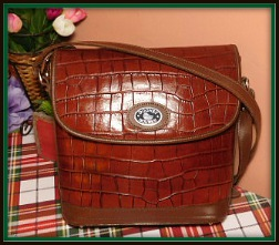 Irresistible Dooney Bayou Brown Leather Flap Bag