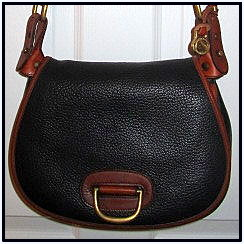 Roundup Time with Vintage Dooney Licorice Black Horseshoe Bag!