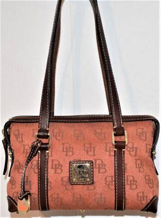 Delicious Daisy Orange Monogram Dooney Satchel