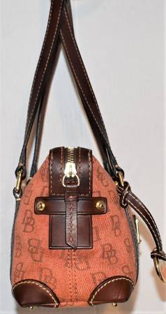 Dooney and Bourke  1975 Anniversary Collection  Cloth & Leather Satchel