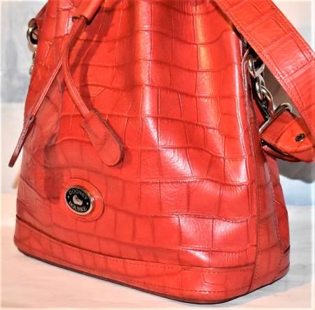Vintage Dooney Red Drawstring Bag