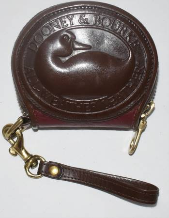 Flirty Wineberry Dooney Big Duck Coinpurse