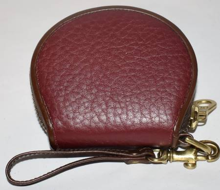 Vintage Dooney and Bourke  All-Weather Leather Big Duck   Rouge & Burnt Cedar  Zipalong Coin Purse!