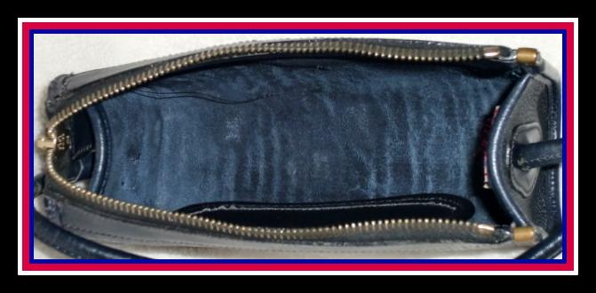 Navy Blue Small Zipper Top Dooney & Bourke AWL Bag