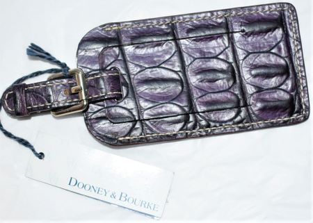 NEW! Succulent Concord Grape Dooney Leather Luggage Tag