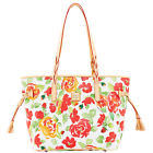 English Cottage Rose Garden Bailey Dooney Bourke Shopper Tote Bag New!