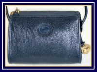 Navy Blue Small Zipper Top Dooney & Bourke AWL Bag