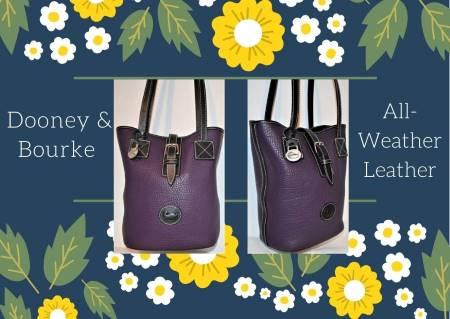 Plum Mulberry Perfection Dooney Bucket Bag
