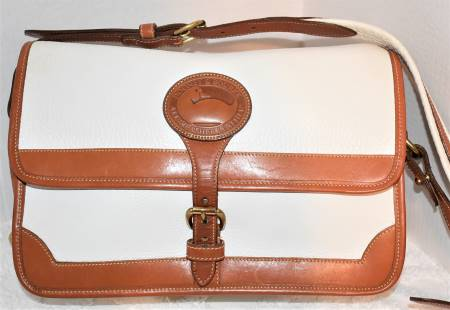 Pearl White Dooney Surrey Shoulder Bag