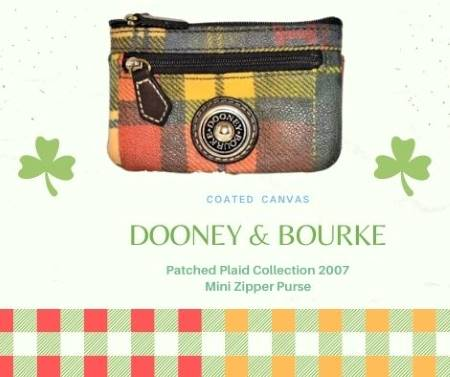 Homespun Patched Plaid Dooney Coin Purse