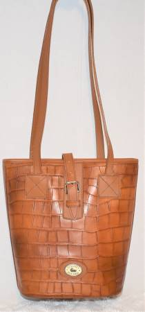 Brown Maple Sugar Dooney Bucket Bag