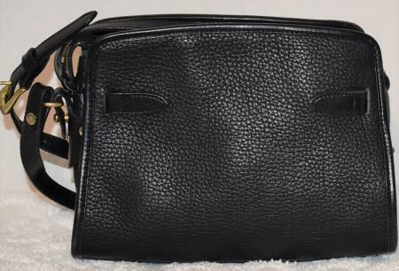 All Weather Leather Shoulder Bag adjustable to Crossbody Bag   Dooney & Bourke AWL Buckle Zip Top