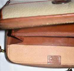 Dooney and Bourke All Weather Leather  Large Zip-Along Organizer Wallet Purse