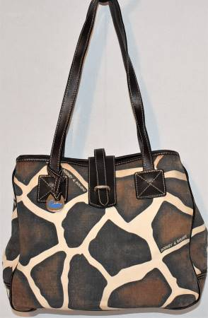 Dooney & Bourke  Deluxe Canvas and Leather  Giraffe Shopper Tote
