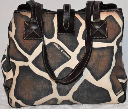 Dooney and Bourke Giraffe Shopping Tote Bag