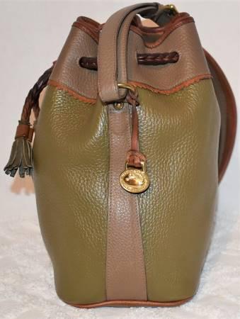 Dooney and Bourke   All-Weather Leather  Teton Drawstring Bucket Bag