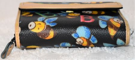 Dooney and Bourke  Coated Canvas  Bumble Bee Credit Card Wallet