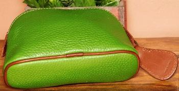 Luscious Peacock Green Dooney AWL Zippered Cosmetic case w/Key Fob