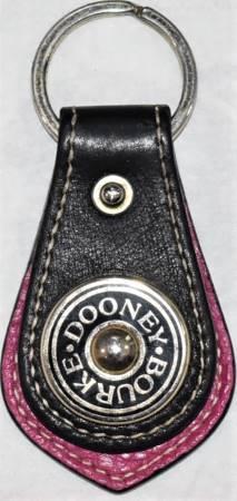 Raspberry Licorice Dooney Medallion Key Fob