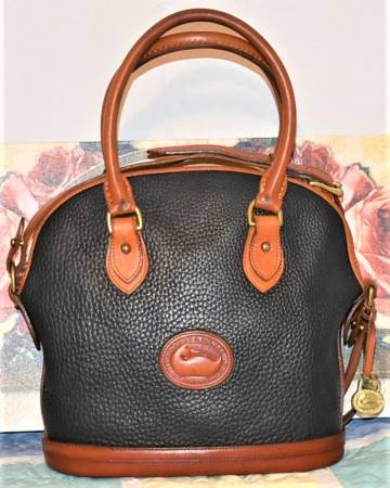 Vintage Jewel Black Dooney Norfolk Bag