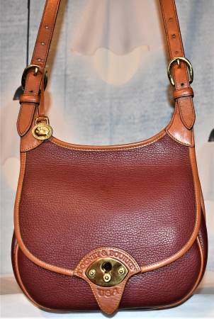 Dooney and Bourke All-Weather Leather  Cavalry Saddle Bag