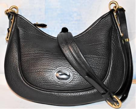 Black Licorice Whip Dooney Crescent Bag