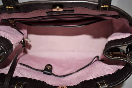 Dooney and Bourke  Croco Embossed Leather Satchel