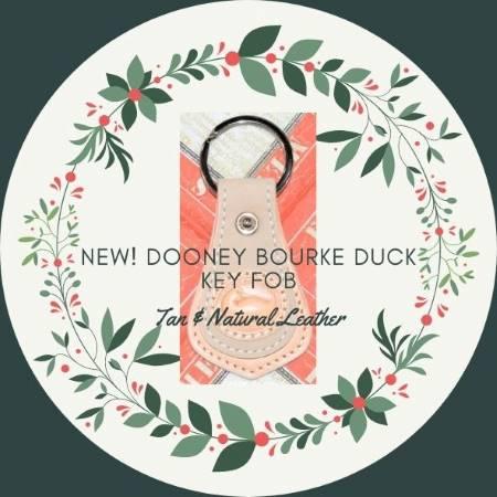 Crème & Wicker Dooney Duck Key Fob
