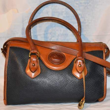 Caribbean Blue Dooney Satchel Shoulder Bag