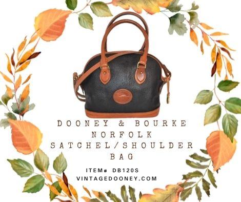 Midnight Star Dooney Norfolk Shoulder Satchel Bag