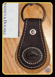 NEW! Snappy Black & Tan Dooney and Bourke Key Fob