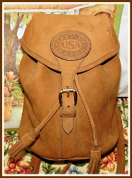 Stunning Saddle Tan Dooney & Bourke Nubuck Back Pack