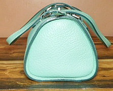 Deluxe Seafoam Green Barrel Bag All-Weather Leather