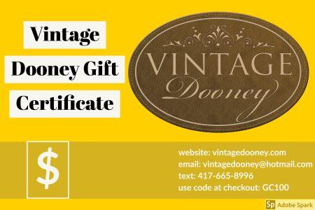 Vintage Dooney Gift Certificate