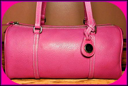Lipsmacking Ripe Raspberry Barrel Satchel Dooney Bag