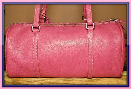 Lipsmacking Ripe Raspberry Barrel Satchel Dooney Bag