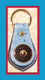 New! Azure Blue Ostrich Dooney and Bourke Key Fob