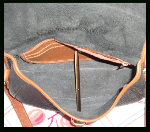 Sweet Classic Black & Tan Tack Bag Dooney & Bourke AWL