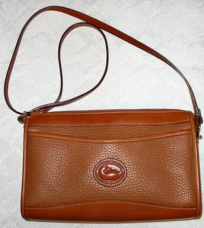 SOLD!!! Dooney & Bourke Zipper Clutch Crossbody/Shoulder Bag in Rare Peanut Color