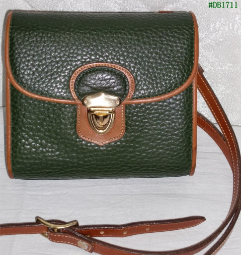 Vintage Dooney & Bourke Medium Plaza Bag R101 in Fir Green