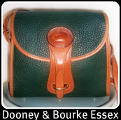 Dooney & Bourke Fir Green & British Tan AWL Essex Bag