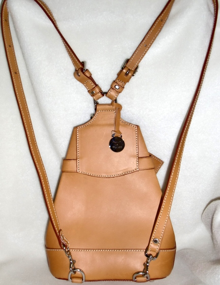 SOLD! Dooney and Bourke ALTO Tan Backpack & Coinpurse made in Italy