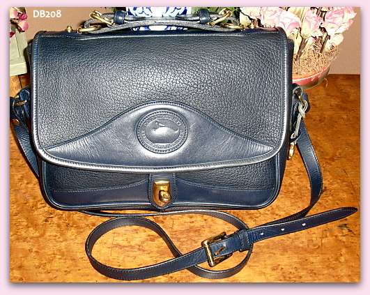 Gorgeous Navy Blue Large Carrier by Dooney & Bourke AWL