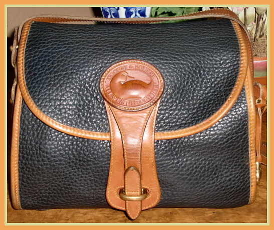 SOLD!!! Navy Blue Essex Dooney & Bourke AWL Medium Large Vintage