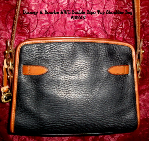 SOLD!!! Dooney & Bourke AWL Buckle Zip Top Shoulderbag
