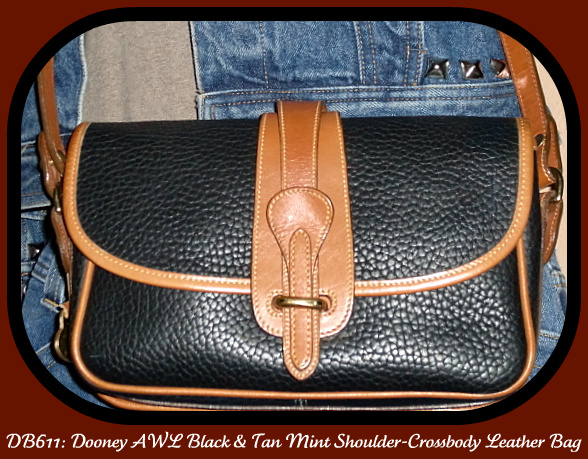 SOLD! Dooney and Bourke All Weather Leather Black Equestrian Bag