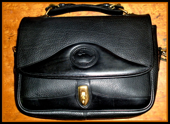 SOLD!! Classic All Black Vintage Dooney & Bourke Carrier Handbag